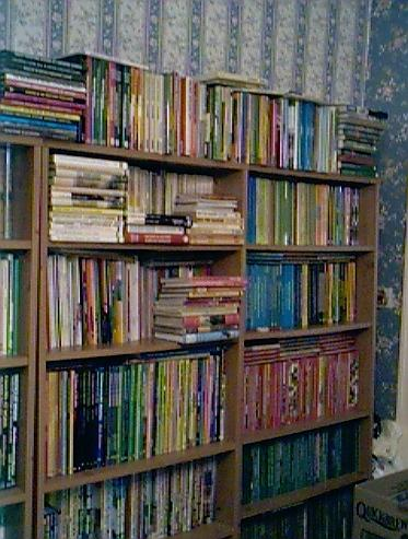 Part of my old Book Room - I now have over 200ft of books on display in my new shop!